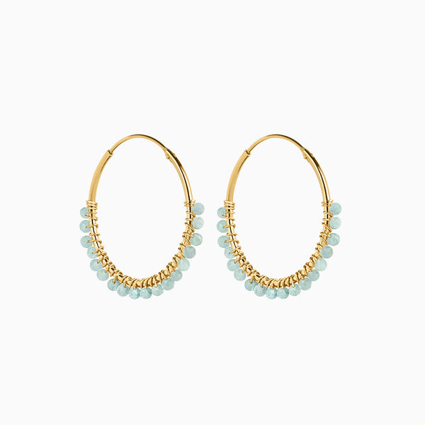 Paradise Sky Hoop Earrings Gold