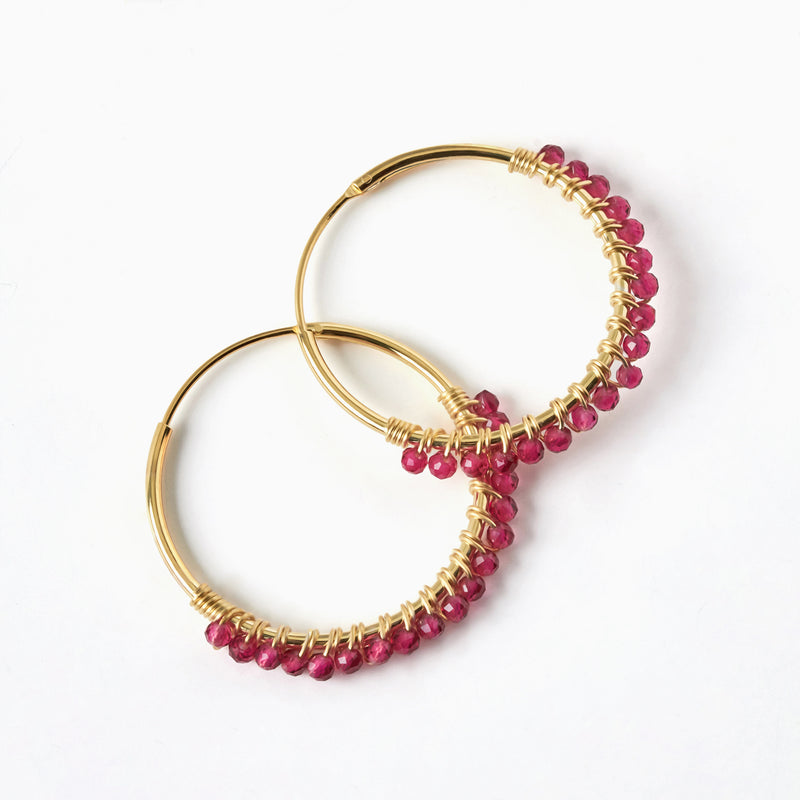Paradise Passion Hoop Earrings Gold