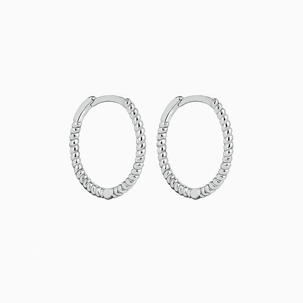 Spyral Hoop Earrings Silver