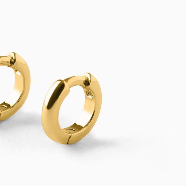 Mini Bold Hoop Earrings Gold