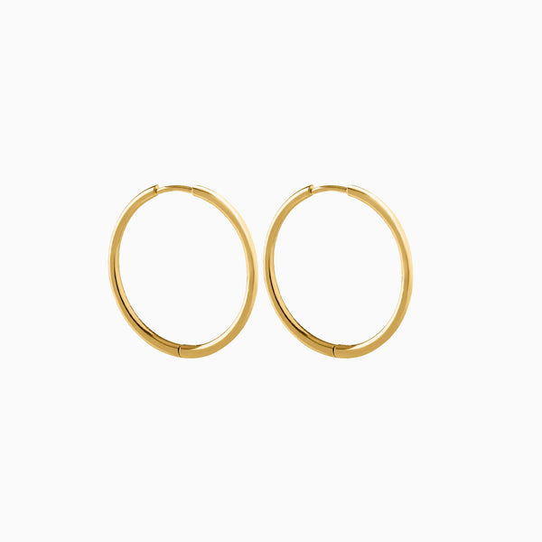 Basic Hoop Earrings Gold