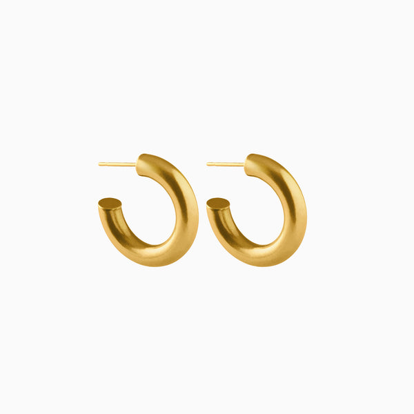 Petite Bold Hoop Earrings Gold