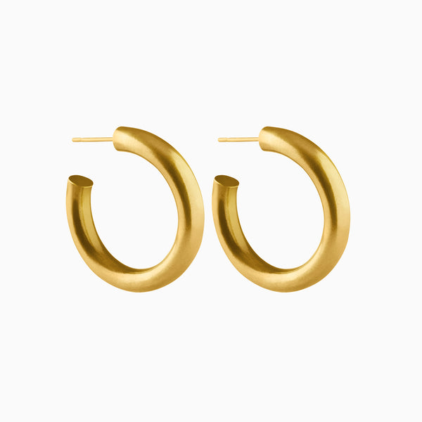 Medium Bold Hoop Earrings Gold