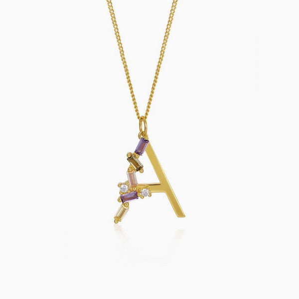Identity Letter A Necklace Gold