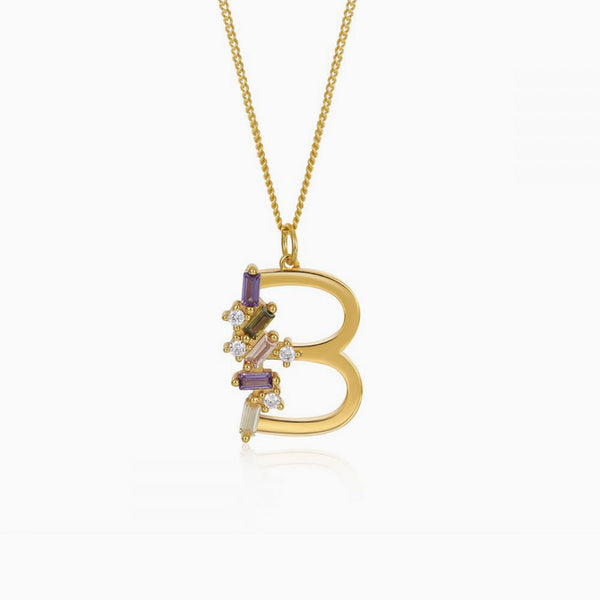 Necklace Identitty Letter B Gold