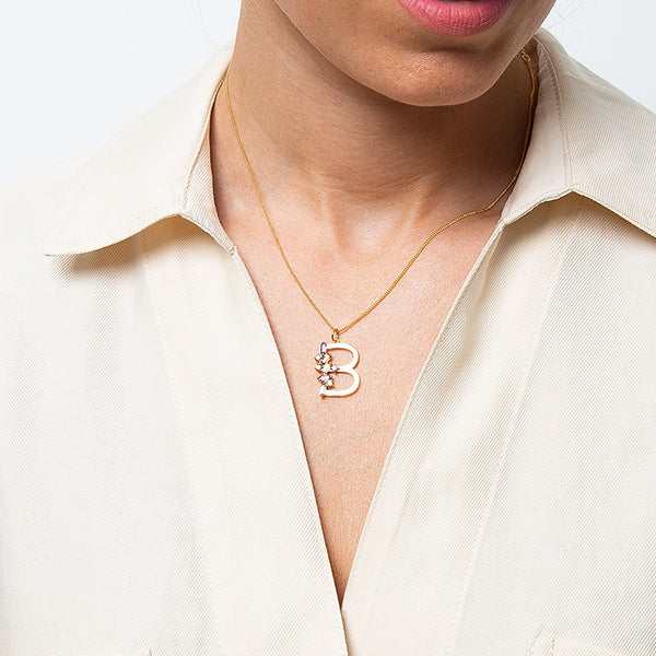 Identitty Letter B Necklace Gold