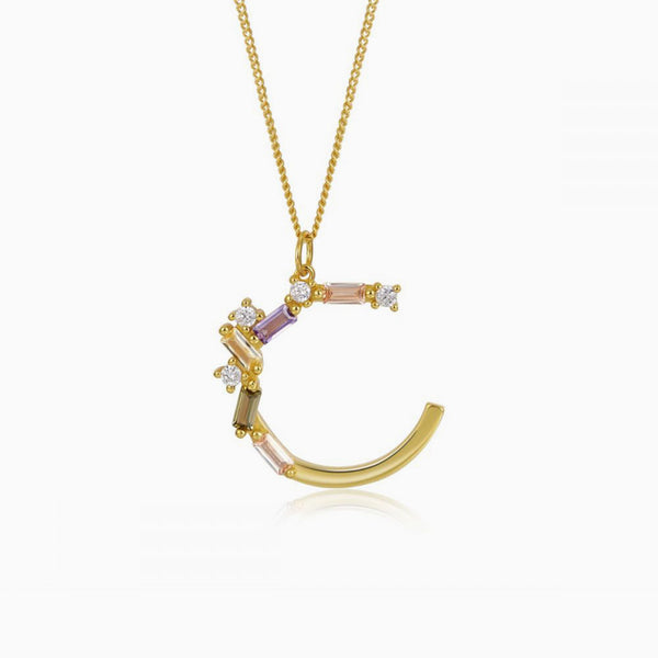 Identity Letter C Necklace Gold