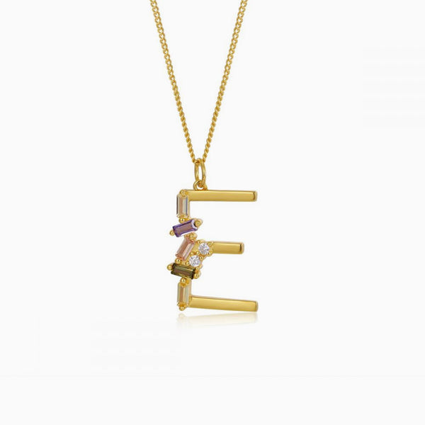 Necklace Identity Letter E Gold