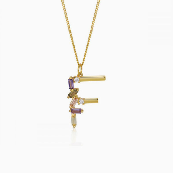 Identity Letter F Necklace Gold