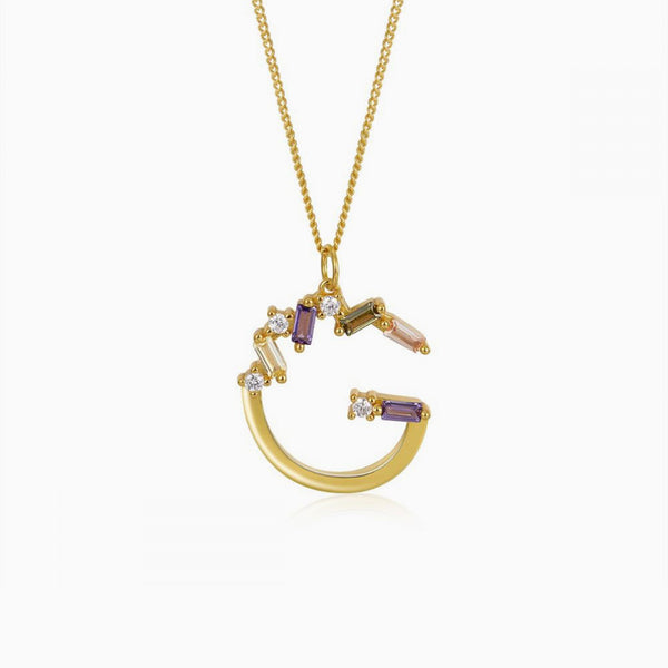 Identity Letter G Necklace Gold