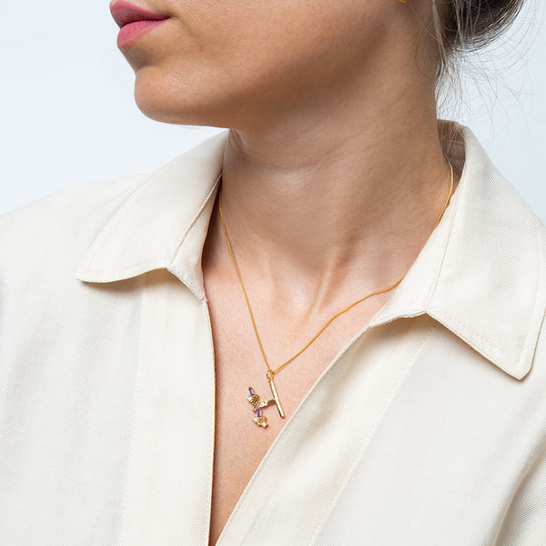 Identity Letter H Necklace Gold