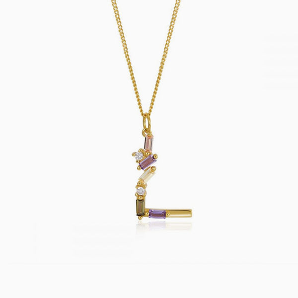 Identity Letter L Necklace Gold