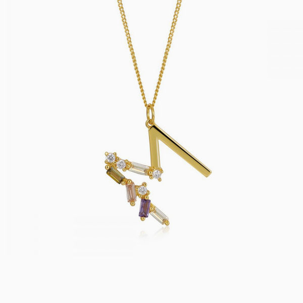 Identity Letter M Necklace Gold