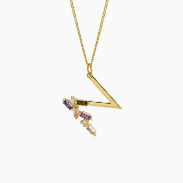 Identity Letter N Necklace Gold