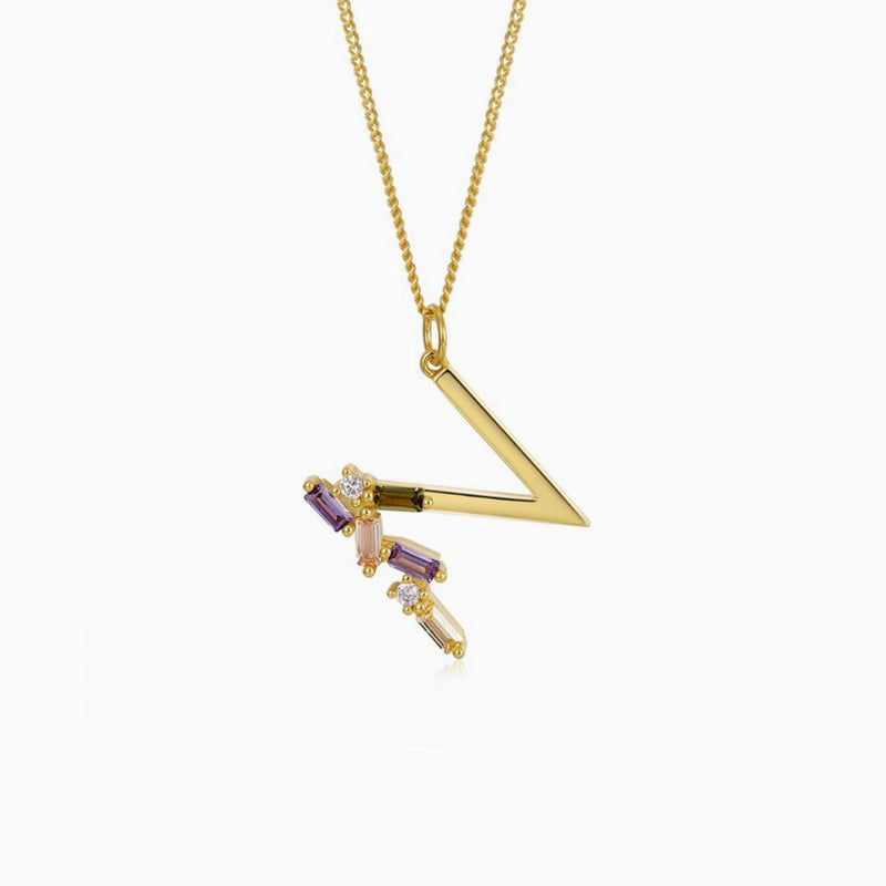 Necklace Identity Letter N Gold
