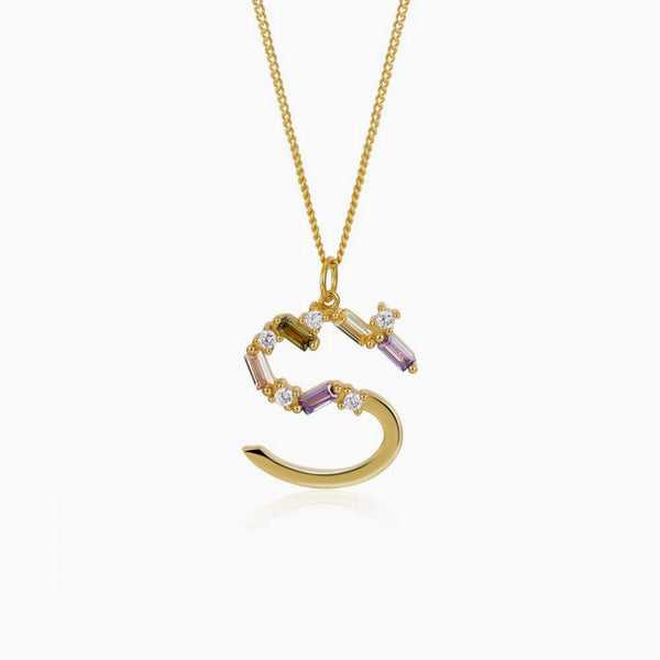 Identity Letter S Necklace Gold