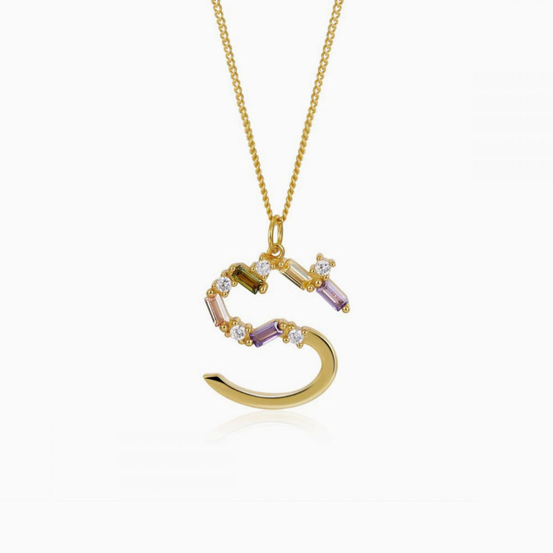 Necklace Identity Letter S Gold