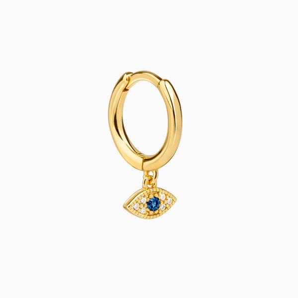 Eye Zirconia Gold Ring Piercing