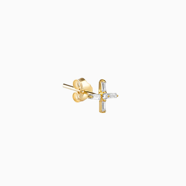 Cross Piercing Gold