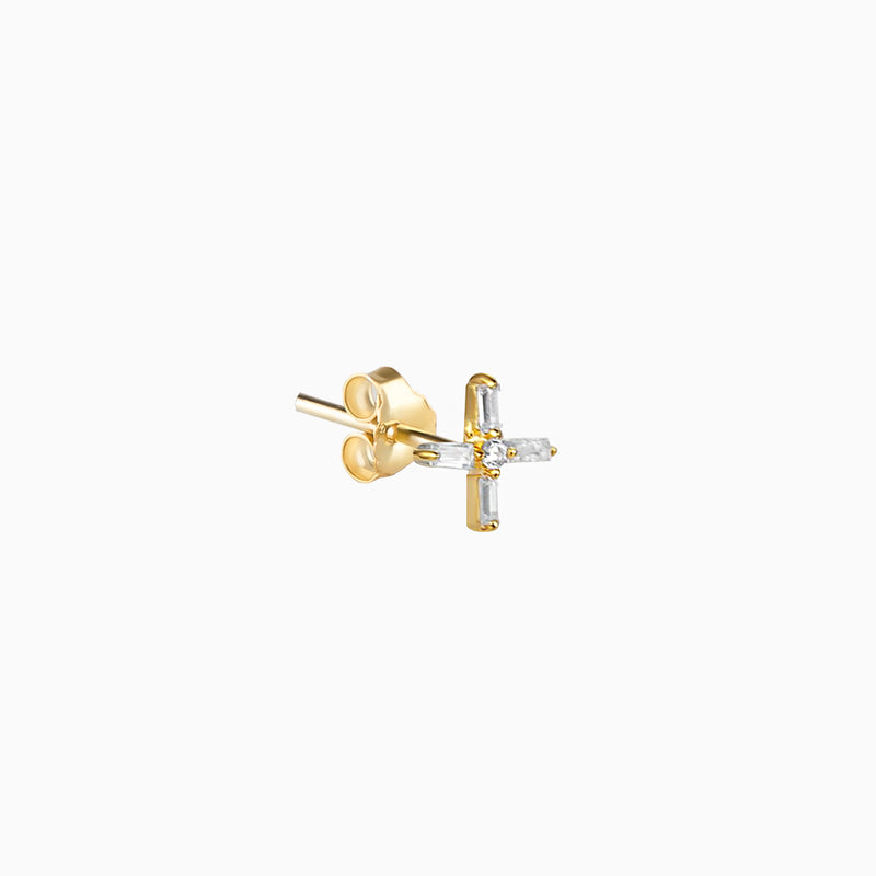 Cross Zirconias Gold Piercing