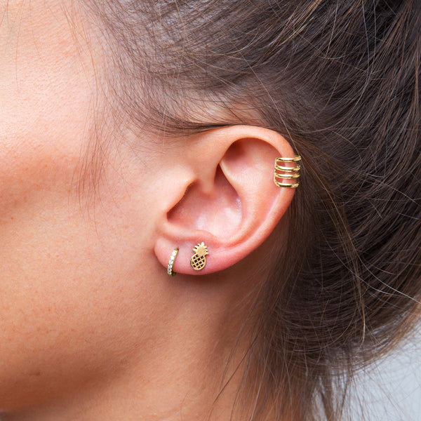 Pineapple Gold Piercing