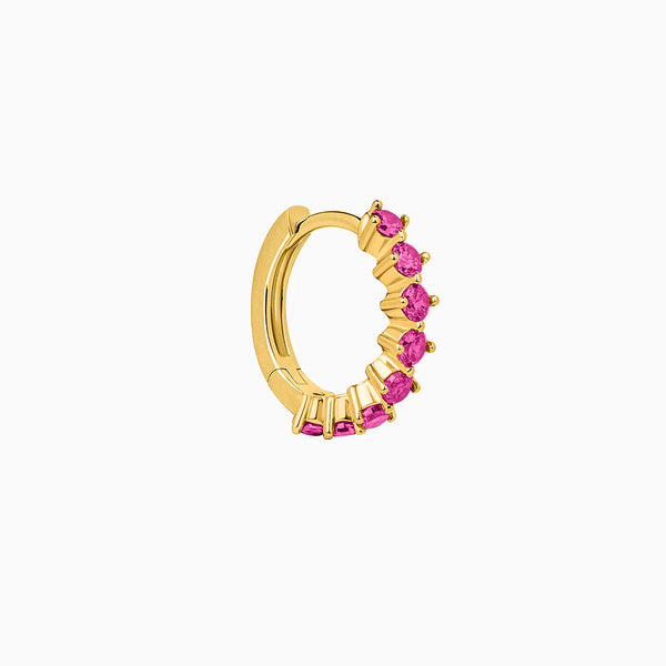 Amalfi Ruby Hoop Piercing Gold
