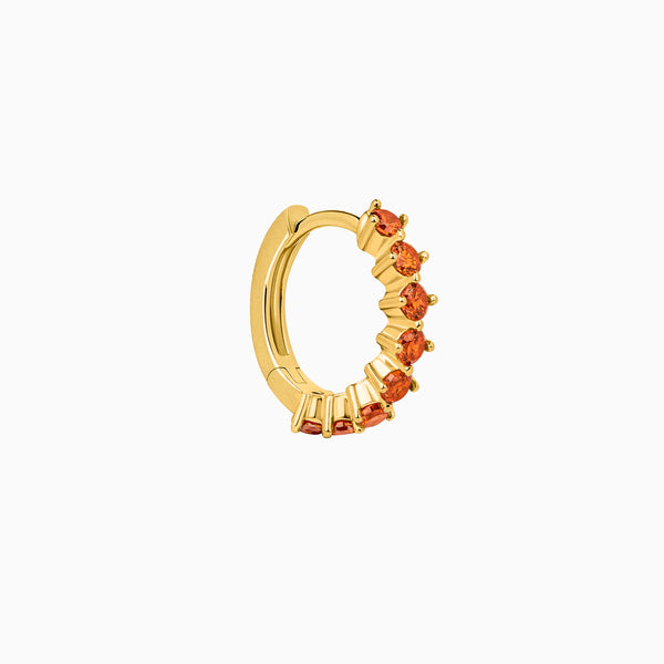 Amalfi Orange Hoop Piercing Gold