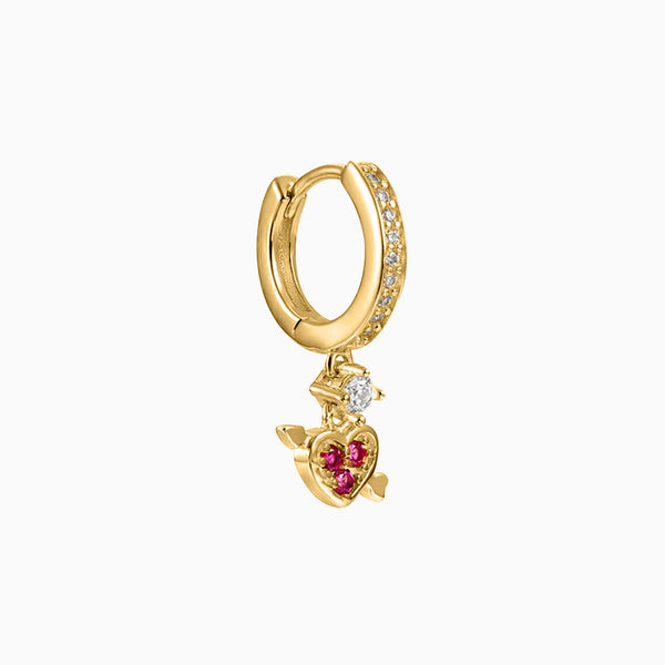 L'Amour Hoop Piercing Gold