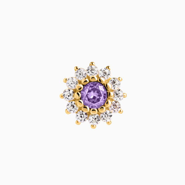 Lily Amethyst Piercing Gold