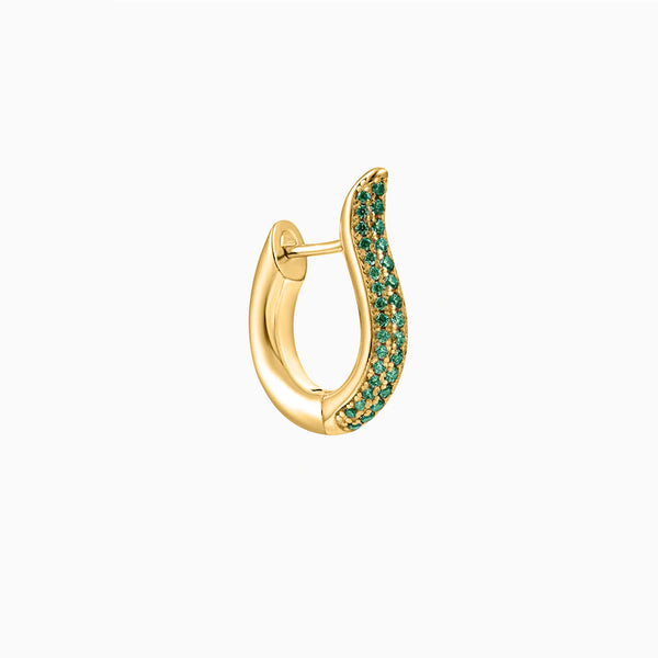 Coco Emerald Piercing Gold