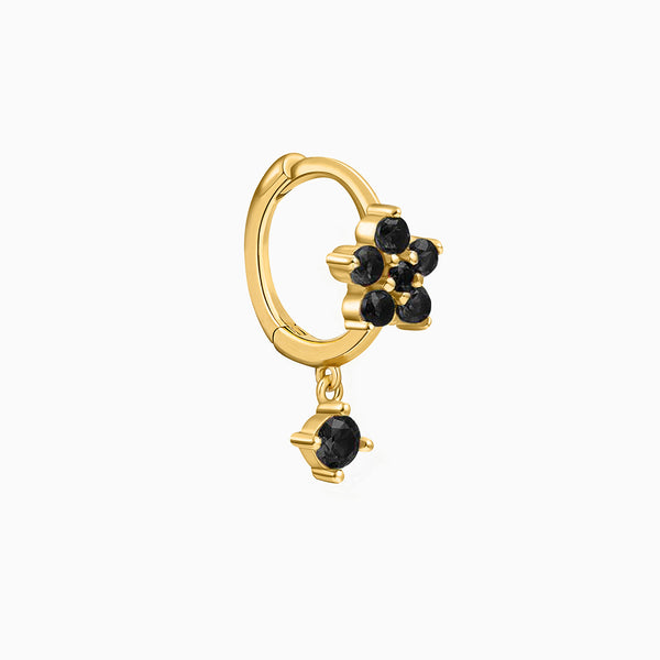 Fiore Black Piercing Gold