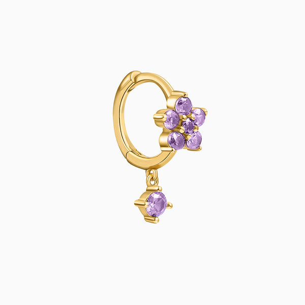 Fiore Amethyst Piercing Gold