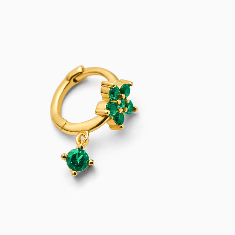 Fiore Emerald Piercing Gold