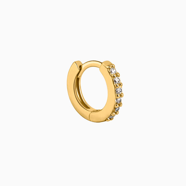 Mini Ring Zirconias Gold Piercing