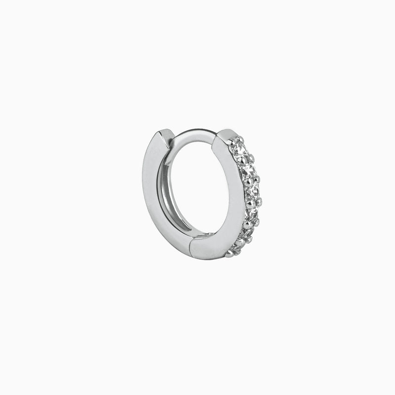 Mini Ring Zirconias Silver Piercing