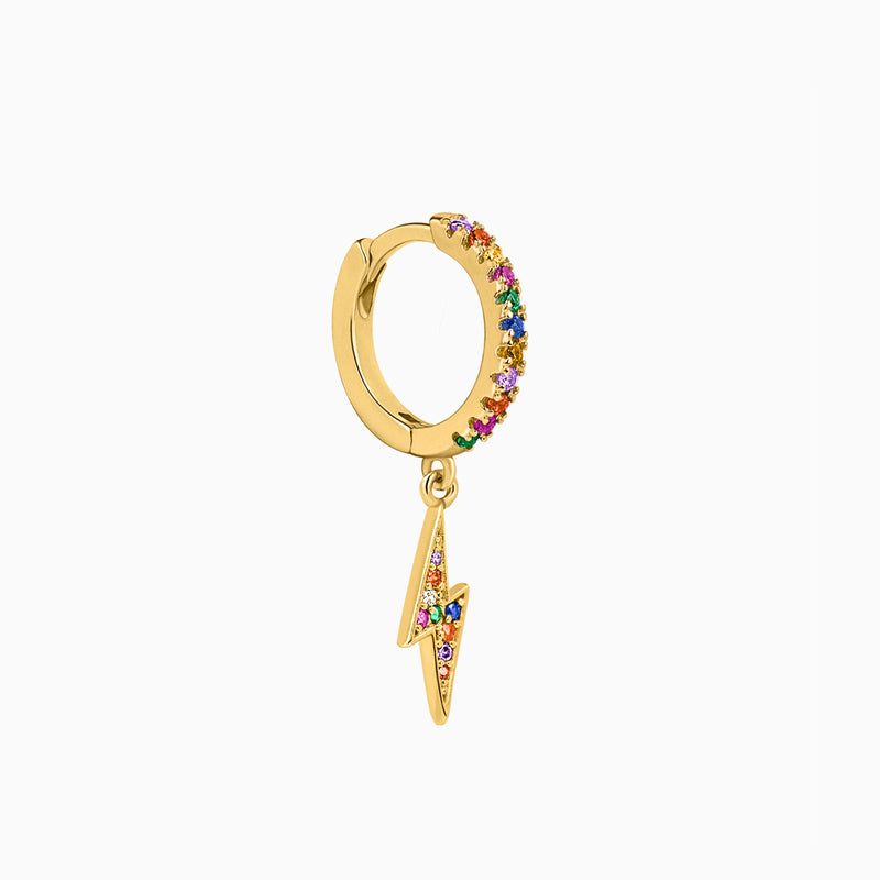 Ray Multicolor Hoop Piercing Gold