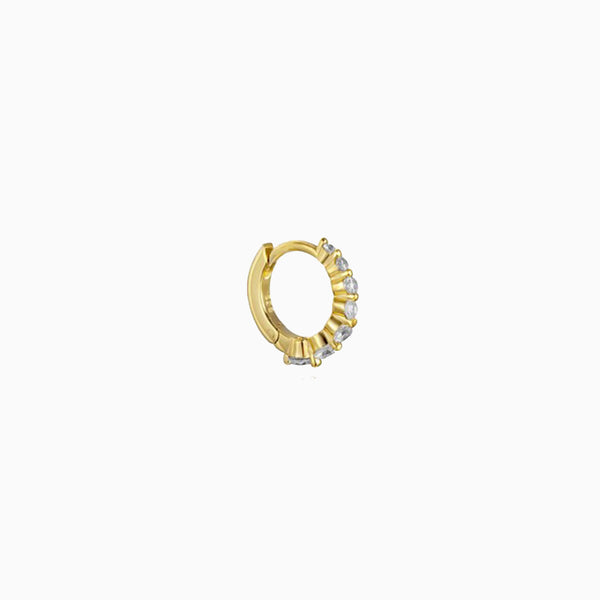 Degrade Ring Zirconias Gold Piercing