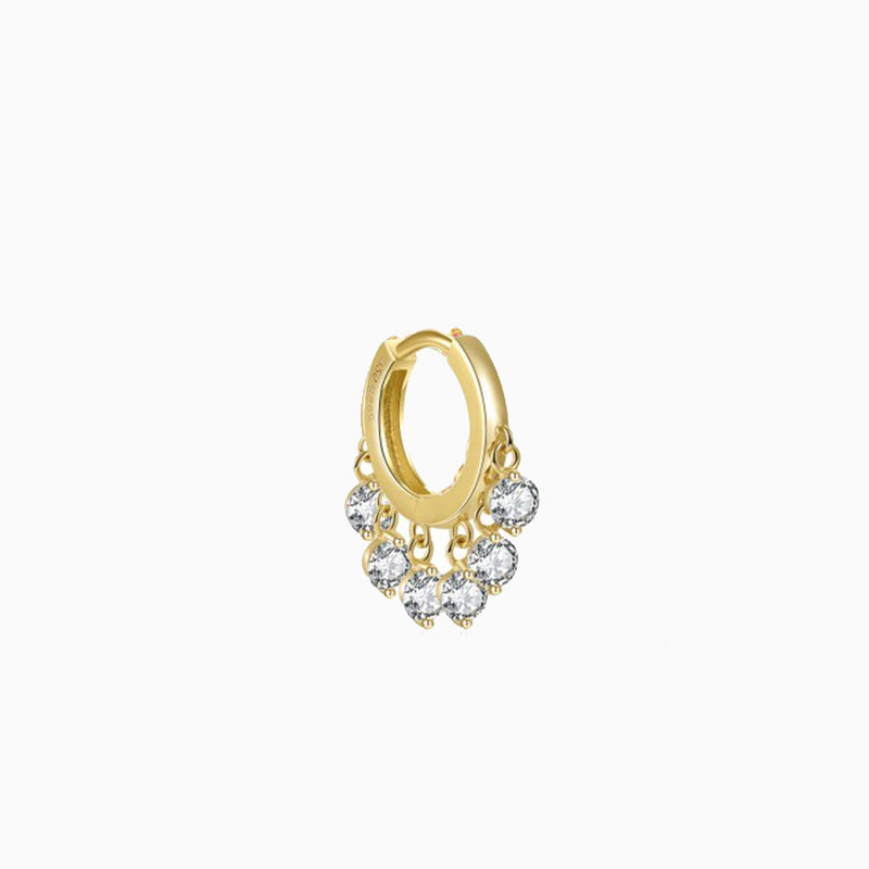 Queen Ring Zirconias Gold Piercing