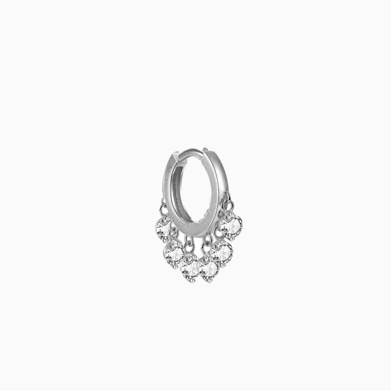 Queen Ring Zirconias Silver Piercing