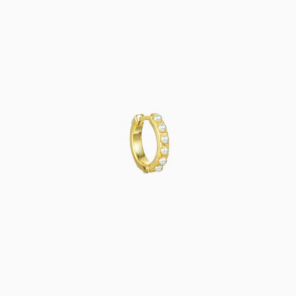 Pearls Gold Ring Piercing