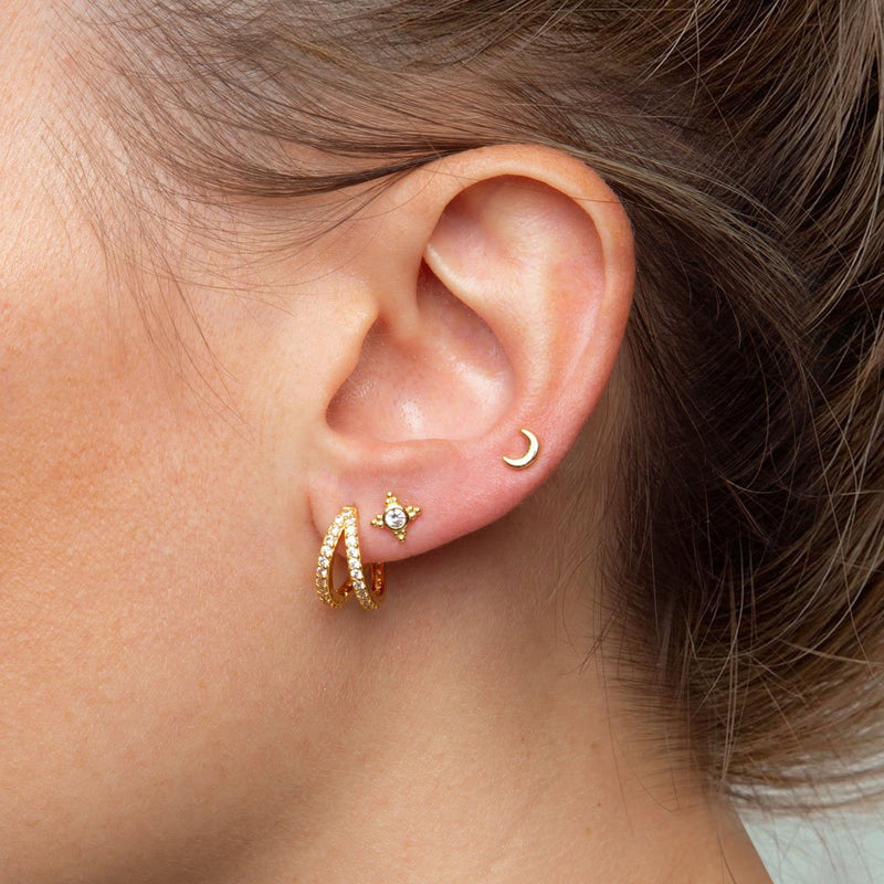 Twin Piercing Gold