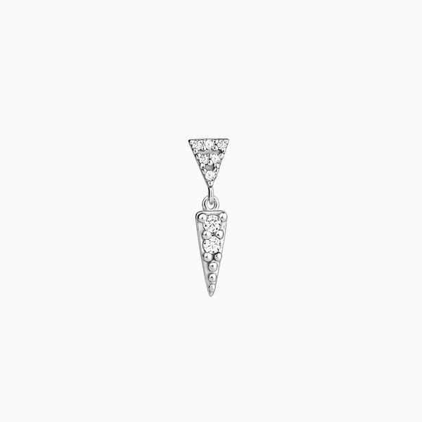 Triangle Piercing Silver