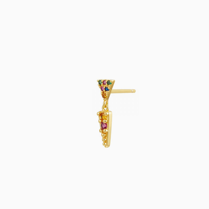 Triangle Multicolor Piercing Gold