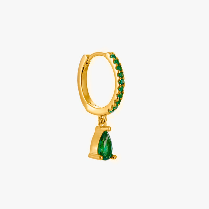 Tear Emerald Gold Piercing