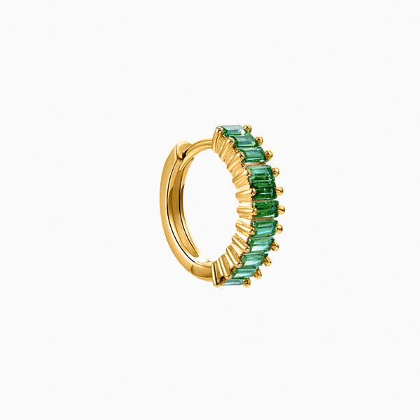 Capri Emerald Gold Piercing
