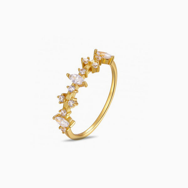 Boreal Zirconias Gold Ring