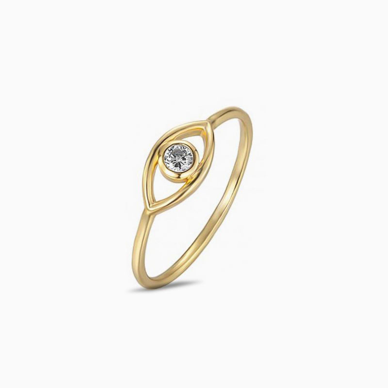 Eye Zirconia Gold Ring