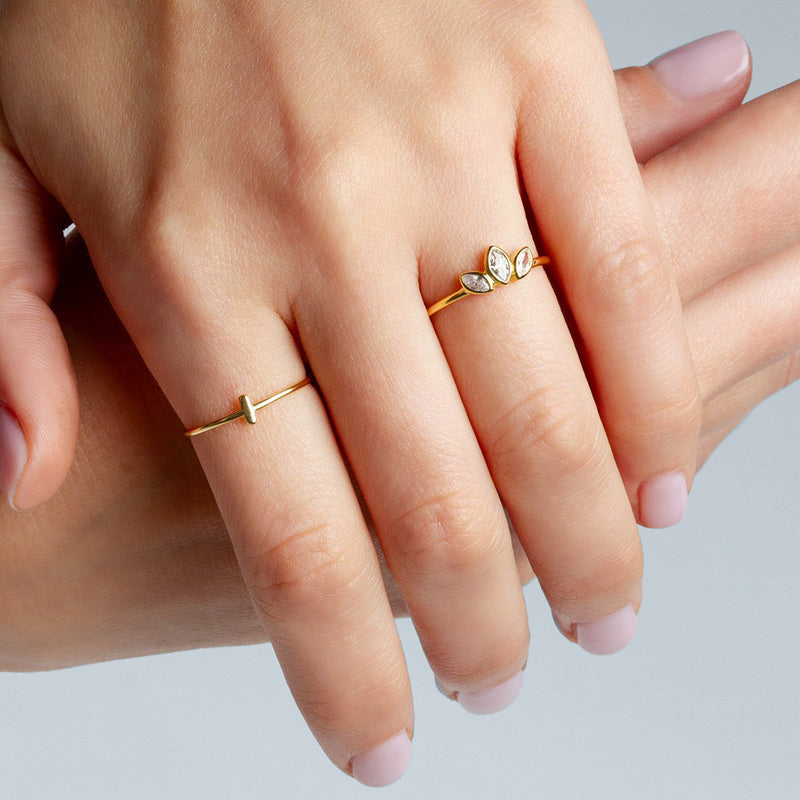 Stick Gold Ring