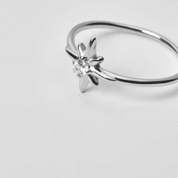 Star Zirconia Silver Ring