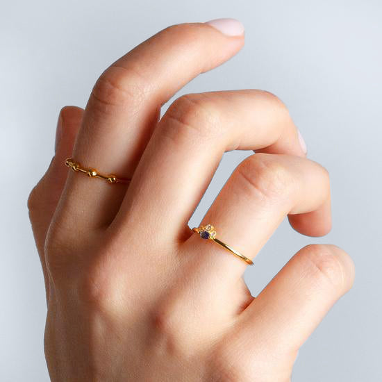 Beads Gold Ring